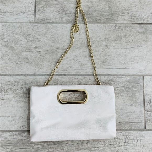 Claire's Handbags - Claires Off White Clutch Bag